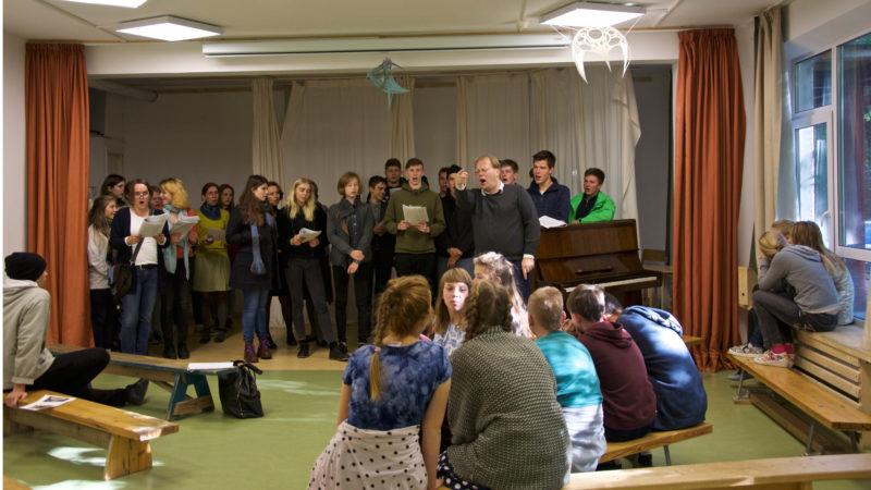 Сводный хор: наши ученики и гости из Германии